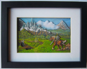 Legend of Zelda Oil Painting ~ 3D Diorama Shadow Box